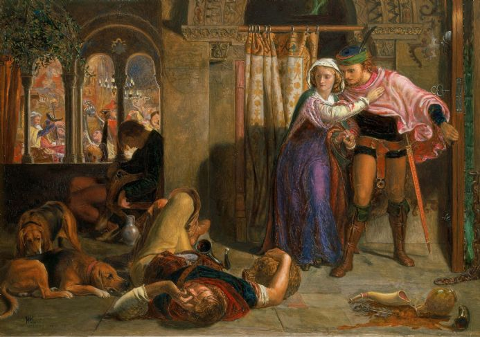 Hunt, William Holman: The Eve of Saint Agnes. Fine Art Print/Poster. Sizes: A4/A3/A2/A1 (002669)